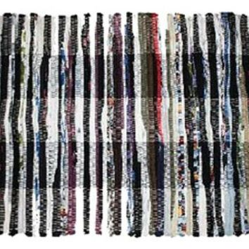 """J & M Home Fashions 7160 Multi Color Chindi Rugs, 24"""" x 36"""", Assorted"""