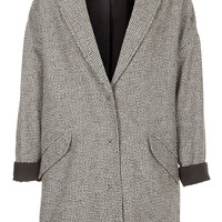 Black And White Boyfriend Coat - Coats - Clothing - Topshop