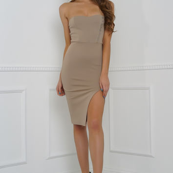 Hook Me Up Dress - Taupe