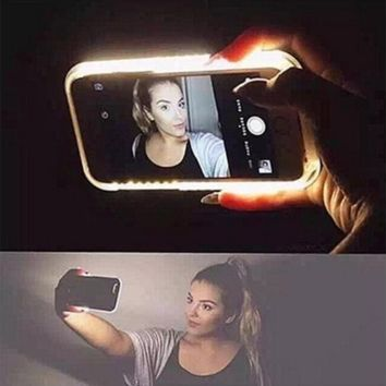 Hot sale 2016 Fashion Phone LED Lighting Selfie Case for IPhone 5 5s 5se 6 6S 6 Plus 4.0'' 4.7'' 5.5'' Phone Cover [6308044868]