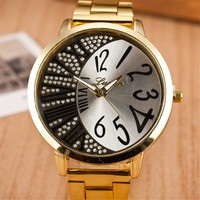 Comfortable Vintage Fashion Quartz Classic Watch Round Ladies Women Men wristwatch On Sales