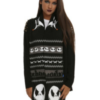 The Nightmare Before Christmas Fair Isle Knit Scarf