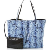 White House | Black Market Reversible Black Snake Print Tote