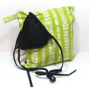 Green Wet Bag, WetBag, Summer Wet Dry Bag, Zipper Wet Bag, Toiletry Bag, Waterproof Bag, Bag for Beach, Beach Wet Bag, Cosmetic Bag