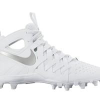 Nike Huarache 5 Lacrosse Cleats - White/Silver | Lacrosse Unlimited