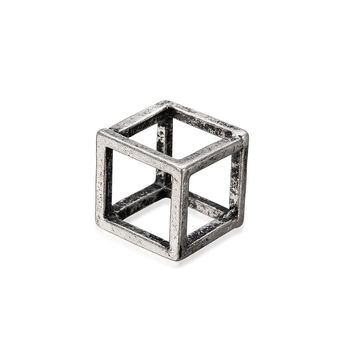 Silver Cube Ring