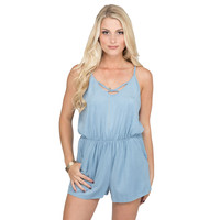 Down To Earth Romper In Blue