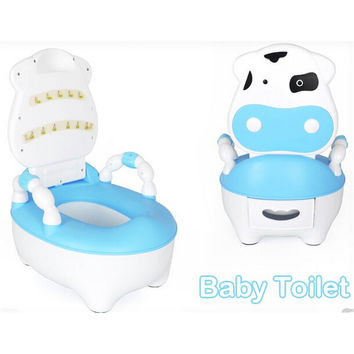 Drawer Back Of A Chair Type Children Baby Toilet Seat Training System   Blue