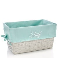 "Seafoam Lined 14"" Storage Basket- Small 611865276"
