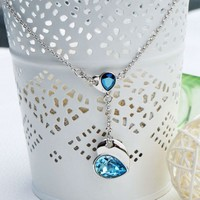Heart to Heart Necklace with Swarovski Elements