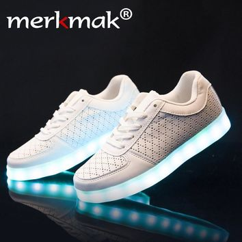 Super Amazing Cool High quality Led Shoes Men Fashion Light Up Casual Shoes Adults 8 C