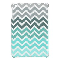 Chevron pattern tiffany fade iPad Mini Case from Zazzle.com