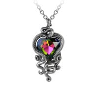 Alchemy Gothic Heart of Cthulhu Octopus Heart Pendant Necklace