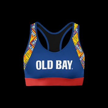 Old Bay Text (Blue) / Sports Bra