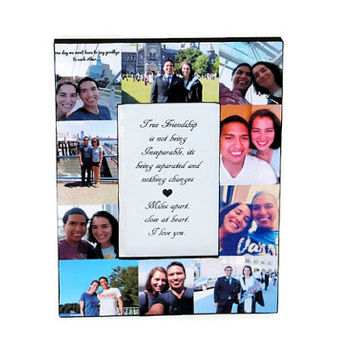Picture Frame Collage Photo Frame Unique best friend Gift Parent, Maid of Honor Burlap Sister Family Portraits Rustic Father's Day Dad