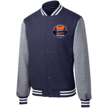 Bears with Football Fleece Letterman Jacket