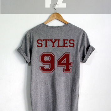 1D Harry Styles Shirt One Direction Shirt Tshirt T-shirt Tee Shirt Grey Color Unisex Size - NK80
