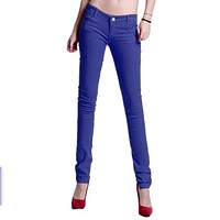New Korean Women Pencil Pants Candy Color Skinny Jeans Women Hips Fitness Trousers Female Jeans Plus size leggin Denim Pants