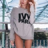 Hot Sale Beyonce's ivy park letters sweater Grey One-nice™