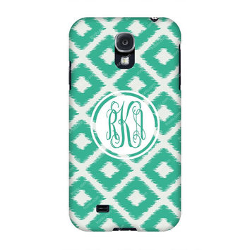 Monogram Samsung case-Monogram Galaxy s4 case -Monogram Samsung s4-Green Diamond Monogrammed S4 case,Customized Samsung Galaxy case