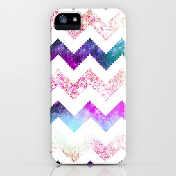 Neon Chevron Pixel - for iphone iPhone & iPod Case by Simone Morana Cyla
