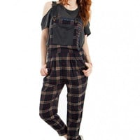 Plaid Habit Overalls