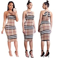 Burberry Women Fashion Bodycon Mini Dress