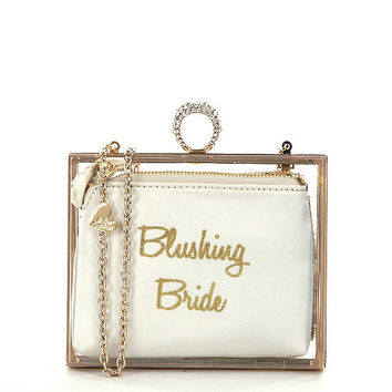 Blue by Betsey Johnson Blushing Bride Clutch in a Box | Dillards