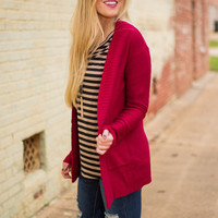 Safe And Sound Cardigan, Red