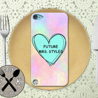 Future Mrs. Styles Pink Pastel Tumblr Candy Heart 1D Custom Rubber Case iPod 5th Generation and Plastic Case For The iPod 4th Generation
