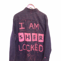 I Am Sherlocked Shirt in Bleached Flannel