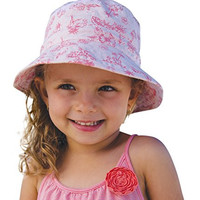 Baby Girls Bucket Summer Sun Hat / Beach Hat / Sun Protection 2-5 Years (Pink)