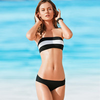 Female Body Striped Sexy Swimwear Swimsuit Ladies Stripes Bikini = 5836455041