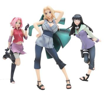 Naruto Sasauke ninja Anime Figure  Shippuden Tsunade figure Sakura Haruno  GALS hinata Doll Brinquedos Japanese Figurine for Kids Gifts AT_81_8