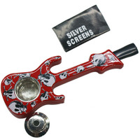 Beautifully Colorful Creative Guitar Shape Portable Smoking Pipes Tobacco Pipe Weed / Tobacco Pipes Gifts Smoke Narguile