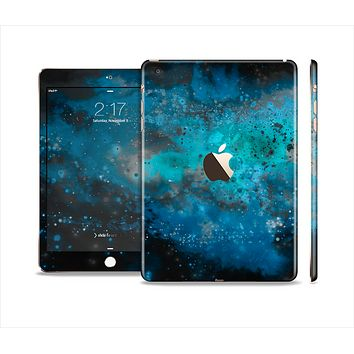 The Blue and Teal Painted Universe Full Body Skin Set for the Apple iPad Mini 3