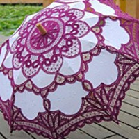 Antique Purple Patchwork Fashional Embroidered Gothic Lace Carnivale Parasol Steampunk Circus Photo Prop Christmas Gift