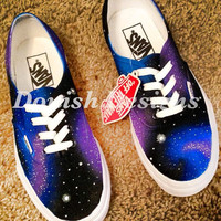 Custom Painted Galaxy Vans Shoes