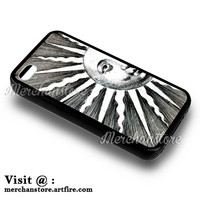 Vintage Sun Anthropomorphized iPhone 4 or 4S Case Cover