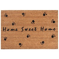 "First Impression Home Sweet Home Black Flocked Coir Door Mat (24"" X 36"" X 0.5"")"
