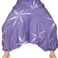 Purple Women Harem Pants, Hammer pants, Hip Hop Pants, Mens Harem pants, Dance Pants, Yoga pants, Thai Fisherman Pants, Burning Man Pants