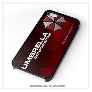 Umbrella Corp Resident Evil iPhone 4 4S 5 5S 5C 6 6 Plus , iPod 4 5 , Samsung Galaxy S3 S4 S5 Note 3 Note 4 , HTC One X M7 M8 Case