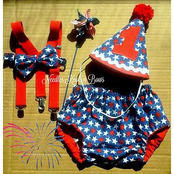 Boys 4th of July Cake Smash, Boys 1st 4th of July, Boys First Birthday, Cake Smash, Red White and Blue