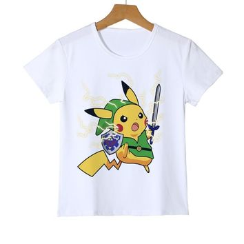Kids Small fire dragon  T shirt Children  Go Shirt Girls Tops Blouse Boy Tee cartoon t-shirt Top clothing Z18-10Kawaii Pokemon go  AT_89_9