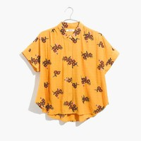 Embroidered Hilltop Shirt in Retro Bouquet Clipdot