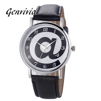 Genvivia Womens watches 2017 Fashion Campanula Women Diamond Analog Leather Quartz Wrist Watch Watches for Lady
