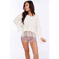 In Session Tassel Sweater (Ivory)