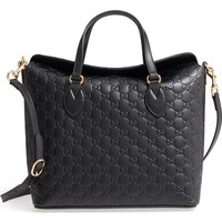 Gucci Linea A Bee Foldover Satchel | Nordstrom