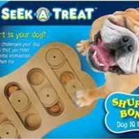 Ethical Pet Seek-A-Treat Shuffle Bone Dog Puzzle Toy