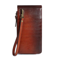 Boronia Leather Wristlet
